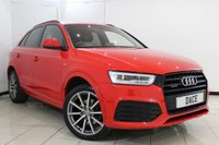 USED 2015 15 AUDI Q3 2.0 TDI QUATTRO S LINE PLUS 5DR AUTOMATIC 148 BHP SERVICE HISTORY + HEATED HALF LEATHER SEATS + SAT NAVIGATION + PARKING SENSOR + HEAD-UP DISPLAY + BLUETOOTH + CRUISE CONTROL + MULTI FUNCTION WHEEL + CLIMATE CONTROL + 19 INCH ALLOY WHEELS