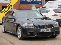 USED 2012 62 BMW 5 SERIES 2.0 520D M SPORT TOURING 5d 181 BHP FULL LEATHER + HEATED SEATS