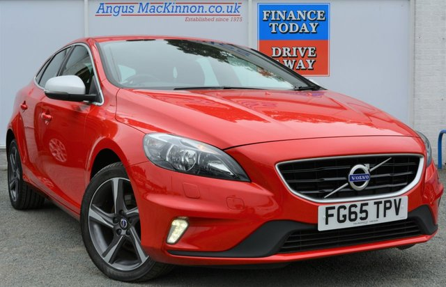 2015 65 VOLVO V40 2.0 D2 R-DESIGN 5d Hatchback with Zero Road Tax and High 78mpg