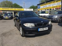 2006 BMW 1 SERIES 1.6 116I ES 5 DOOR 114 BHP IN BLACK WITH 93000 MILES IN IMMACULATE CONDITION.  £3349.00