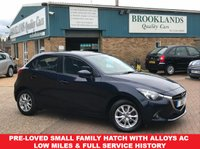 2016 MAZDA 2 1.5 SE-L 5 DOOR 74 BHP BLUE METALLIC BLUETOOTH £8495.00