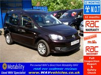 2013 VOLKSWAGEN CADDY 1.6 C20 LIFE TDI 5d AUTO DRIVE FROM WHEELCHAIR £15995.00