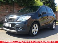 USED 2013 62 VAUXHALL MOKKA 1.6 EXCLUSIV S/S 5d 113 BHP 2 OWNERS,  SERVICE HISTORY, MOT AUG 19.  EXCELLENT CONDITION, ALLOYS, CRUISE, CLIMATE, PARKING AID,  E/WINDOWS, R/LOCKING, FREE  WARRANTY, FINANCE AVAILABLE, HPI CLEAR, PART EXCHANGE WELCOME,