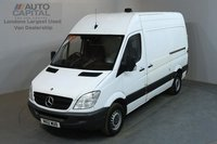 USED 2012 12 MERCEDES-BENZ SPRINTER 2.1 313 CDI 129 BHP MWB HIGH ROOF ONE OWNER FROM NEW, SERVICE HISTORY