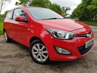 USED 2013 62 HYUNDAI I20 1.2 ACTIVE 3d PARKING SENSORS ALLOYS A/C