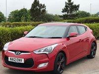 2012 HYUNDAI VELOSTER 1.6 GDI SPORT 4d AUTO 138 BHP £SOLD