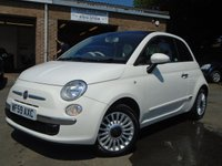 USED 2009 59 FIAT 500 1.2 LOUNGE 3d 69 BHP JUST 2 OWNERS AND £30 ROAD TAX