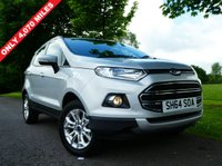 USED 2014 64 FORD ECOSPORT 1.5 TDCi Titanium 5dr £30 tax only 4,000 miles FSH