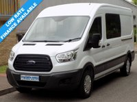 USED 2015 65 FORD TRANSIT L3H2 350 LWB DOUBLE CAB CREW VAN 2.2 RWD 125BHP 6 SPEED 1 Owner, Full Service History