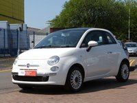 USED 2012 12 FIAT 500 1.2 LOUNGE 3d  £30 TAX ~ PANORAMIC ROOF ~ BLUE&ME ~ BLUETOOTH ~ ALLOY WHEELS ~ AIR CONDITIONING ~ FULL SERVICE HISTORY