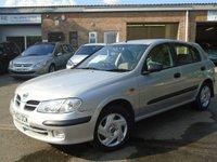 2002 NISSAN ALMERA 1.5 S 5d 88 BHP £650.00