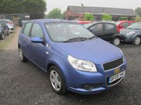 USED 2009 09 CHEVROLET AVEO 1.2 LS 5DR FSH AIRCON CD ELECTRIC PACK