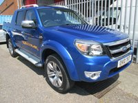 2010 FORD RANGER 3.0 TDCi WILDTRAK D/CAB 4x4 Pickup *PART LEATHER + AIR CON* £9000.00
