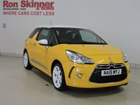 USED 2015 15 CITROEN DS3 1.2 PURETECH DSTYLE ICE S/S 3d 109 BHP (White Roof)