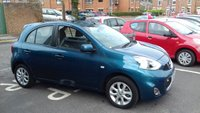 USED 2014 14 NISSAN MICRA 1.2 ACENTA 5d 79 BHP EXCELLENT FUEL ECONOMY , LOW CO2 EMISSIONS,£30 ROAD TAX AND FULL HISTORY WITH ONLY 4280 MILES FROM NEW!!...EXCELLENT SPECIFICATION INCLUDING SATELLITE NAVIGATION, MEDIA , ALLOY WHEELS, CLIMATE CONTROL, AND CRUISE CONTROL!