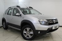 USED 2015 15 DACIA DUSTER 1.5 LAUREATE DCI 5DR 107 BHP FULL RENAULT SERVICE HISTORY + SAT NAVIGATION + BLUETOOTH + MULTI FUNCTION WHEEL + AIR CONDITIONING + 16 INCH ALLOY WHEELS