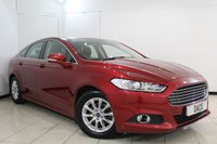 USED 2015 15 FORD MONDEO 2.0 ZETEC ECONETIC TDCI 5DR 148 BHP FULL SERVICE HISTORY + BLUETOOTH + CRUISE CONTROL + MULTI FUNCTION WHEEL + AIR CONDITIONING + 16 INCH ALLOY WHEELS