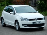 2013 VOLKSWAGEN POLO 1.2 MATCH EDITION 3d 59 BHP £6995.00