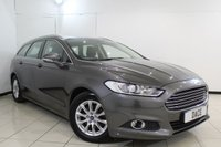 USED 2015 64 FORD MONDEO 2.0 ZETEC ECONETIC TDCI 5DR 148 BHP FULL SERVICE HISTORY + SAT NAVIGATION + BLUETOOTH + CRUISE CONTROL + MULTI FUNCTION WHEEL + TOUCH SCREEN MONITOR + ELECTRIC WINDOWS + 16 INCH ALLOY WHEELS