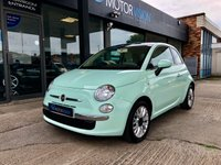 USED 2015 15 FIAT 500 1.2 LOUNGE 3d 69 BHP Mint green, pan roof, aux, only £30 year tax, MOT December 2019
