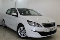 USED 2014 64 PEUGEOT 308 1.6 HDI ACTIVE 5DR 92 BHP FULL SERVICE HISTORY + SAT NAVIGATION + PARKING SENSOR + BLUETOOTH + CRUISE CONTROL + MULTI FUNCTION WHEEL + CLIMATE CONTROL + 16 INCH ALLOY WHEELS