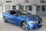 USED 2014 14 BMW 4 SERIES 3.0 430D M SPORT 2d AUTO 255 BHP FULL BLACK LEATHER SEATS + FULL SERVICE HISTORY + PROFESSIONAL SAT NAV + XENON HEADLIGHTS + 18 INCH ALLOYS + HEATED FRONT SEATS + BLUETOOTH + DAB RADIO + CRUISE CONTROL + PARKING SENSORS