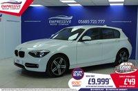 2013 BMW 1 SERIES 1.6 114D SPORT 5d 94 BHP £9999.00