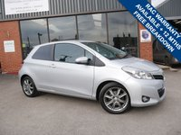 USED 2012 62 TOYOTA YARIS 1.3 VVT-I SR 3d 98 BHP SAT NAV,  BLUETOOTH PHONE PREPARATION, AIR CONDITIONING, GREAT SPEC AND CONDITION