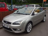 2007 FORD FOCUS 2.0 CC3 2dr, Tan Leather Interior £3590.00