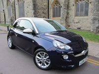 USED 2014 64 VAUXHALL ADAM 1.2 JAM 3d 69 BHP + ONLY 12000 MILES FROM NEW +
