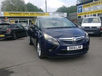 2014 VAUXHALL ZAFIRA TOURER 2.0 ELITE CDTI 5d 162 BHP IN BLUE WITH BLACK LEATHER INTERIOR AND SAT NAV £9999.00
