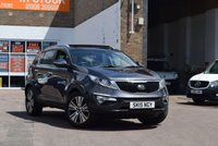 USED 2015 15 KIA SPORTAGE 1.7 CRDI 3 ISG 5d 114 BHP A lovely 1 owner 2015 Kia Sportage 1.7crdi 3 in grey metallic with a black leather interior. 2 keys and records for 3 services. A superb family car for just £13999.