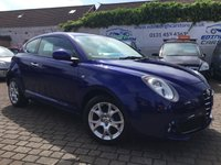 USED 2011 61 ALFA ROMEO MITO 1.4 TB MULTIAIR SPRINT 3d 105 BHP PRICE INCLUDES A 6 MONTH RAC WARRANTY, 1 YEARS MOT WITH 12 MONTHS FREE BREAKDOWN COVER