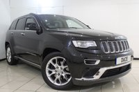 USED 2015 15 JEEP GRAND CHEROKEE 3.0 V6 CRD SUMMIT 5DR AUTOMATIC 247 BHP FRONT/REAR HEATED LEATHER SEATS + SAT NAVIGATION + REVERSE CAMERA + BLUETOOTH + CRUISE CONTROL + MULTI FUNCTION WHEEL + CLIMATE CONTROL + 29 INCH ALLOY WHEELS