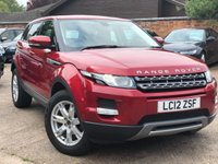 USED 2012 12 LAND ROVER RANGE ROVER EVOQUE 2.2 TD4 PURE 5dr 150 BHP One owner from new, Full Land Rover service history.