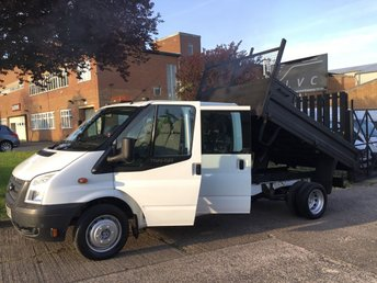 2012 FORD TRANSIT 2.2TDCI T350 LWB TIPPER DOUBLE CAB. 6 SEATS. LOW 53K MILES £8750.00