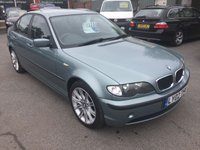 2002 BMW 318i 2.0 IN METALLIC LIGHT BLUE WITH 130,000 MILES AND AN MOT UNTIL 11/08/19(TRADE CLEARANCE) £1100.00