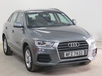 USED 2015 15 AUDI Q3 1.4 TFSI SE 5d AUTO 148 BHP Stunning Audi Q3 SE in Monsoon Metallic Grey has Full Audi History, was first registered on the 28th April 2015 and comes with Heated Seats, Heated Wing Mirrors, Parking Sensors, Bluetooth, Climate Control, DAB Radio, USB/AUX, 2 Keys together with a  Free Warranty and free UK Delivery. Finance Available at 9.9% APR.
