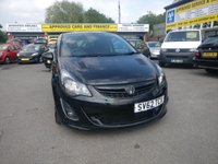 2012 VAUXHALL CORSA 1.4 BLACK EDITION 3 DOOR 118 BHP IN BLACK WITH 68000 MILES AND A VERY SPORT LOOKING CAR. £4499.00