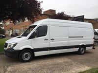 USED 2015 15 MERCEDES-BENZ SPRINTER 2.1 313CDI LWB HIGH ROOF 130BHP. VERY LOW 23,000 MILES. 1 OWNER. VERY LOW MILES. 0% DEPOSIT FINANCE. PX WELCOME