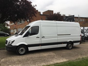 2014 MERCEDES-BENZ SPRINTER 2.1 313CDI LWB HIGH ROOF 130BHP. ROOF-RACK + LADDER. 1 OWNER. £9900.00