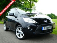 USED 2013 13 FORD KA 1.2 TITANIUM 3d 69 BHP Stunning low mileage example with heated leather interior, bluetooth and lots more.