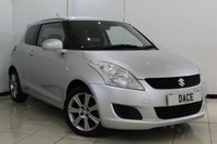 USED 2013 63 SUZUKI SWIFT 1.2 SZ-L 3DR 94 BHP SERVICE HISTORY + BLUETOOTH + CRUISE CONTROL + MULTI FUNCTION WHEEL + AIR CONDITIONING + 16 INCH ALLOY WHEELS
