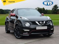USED 2016 16 NISSAN JUKE 1.6 NISMO RS DIG-T 5d 215 BHP Stand out in this stunning 2016 Nissan Juke 1.6 DIG 215 bhp NISMO RS in black with red door mirrors and trims, plus a two tone red and charcoal grey sports interior. 1 keeper with service history and 2 keys.