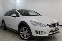 USED 2012 62 PEUGEOT 508 2.0 RXH HYBRID4 5DR AUTOMATIC 200 BHP SERVICE HISTORY + HEATED HALF LEATHER SEATS + SAT NAVIGATION + PANORAMIC ROOF + PARKING SENSOR + BLUETOOTH + CRUISE CONTROL + MULTI FUNCTION WHEEL + 18 INCH ALLOY WHEELS