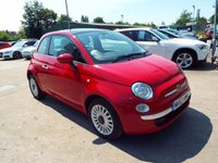 USED 2013 63 FIAT 500 1.2 LOUNGE 3d 69 BHP SERVICE HISTORY