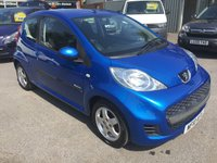 2010 PEUGEOT 107 1.0 VERVE 3 DOOR 68 BHP IN METALLIC BLUE WITH 38000 MILES £3299.00