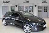 USED 2014 64 VOLKSWAGEN SCIROCCO 2.0 R LINE TDI BLUEMOTION TECHNOLOGY DSG 2d 148 BHP FULL BLACK LEATHER SEATS + FULL VW SERVICE HISTORY + SAT NAV + £30 ROAD TAX + HEATED FRONT SEATS + BLUETOOTH + 19 INCH ALLOYS + PARKING SENSORS