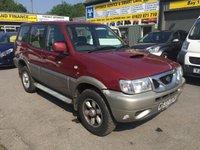 2000 NISSAN TERRANO 2.7 SE TD 5 DOOR 123 BHP IN RED (MOT EXPIRED NEEDS WELDING TRADE CLEARANCE) £650.00