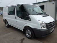 2011 FORD TRANSIT 2.2 T280 6 SEATER CREW CAB, FWD 85 BHP, 1 COMPANY OWNER £7495.00